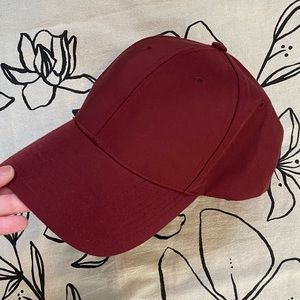 Aritzia Golden By Tna Anson Baseball Cap Red Hat